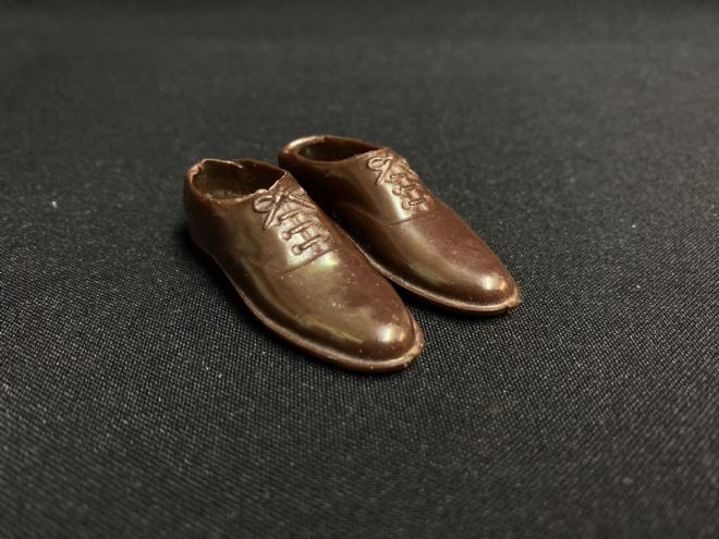 VINTAGE ACTION MAN - BRITISH OFFICER BROWN SHOES